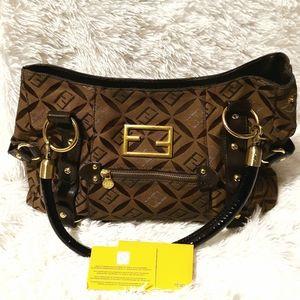 FENDI Zucca FF Logo Print Handbag